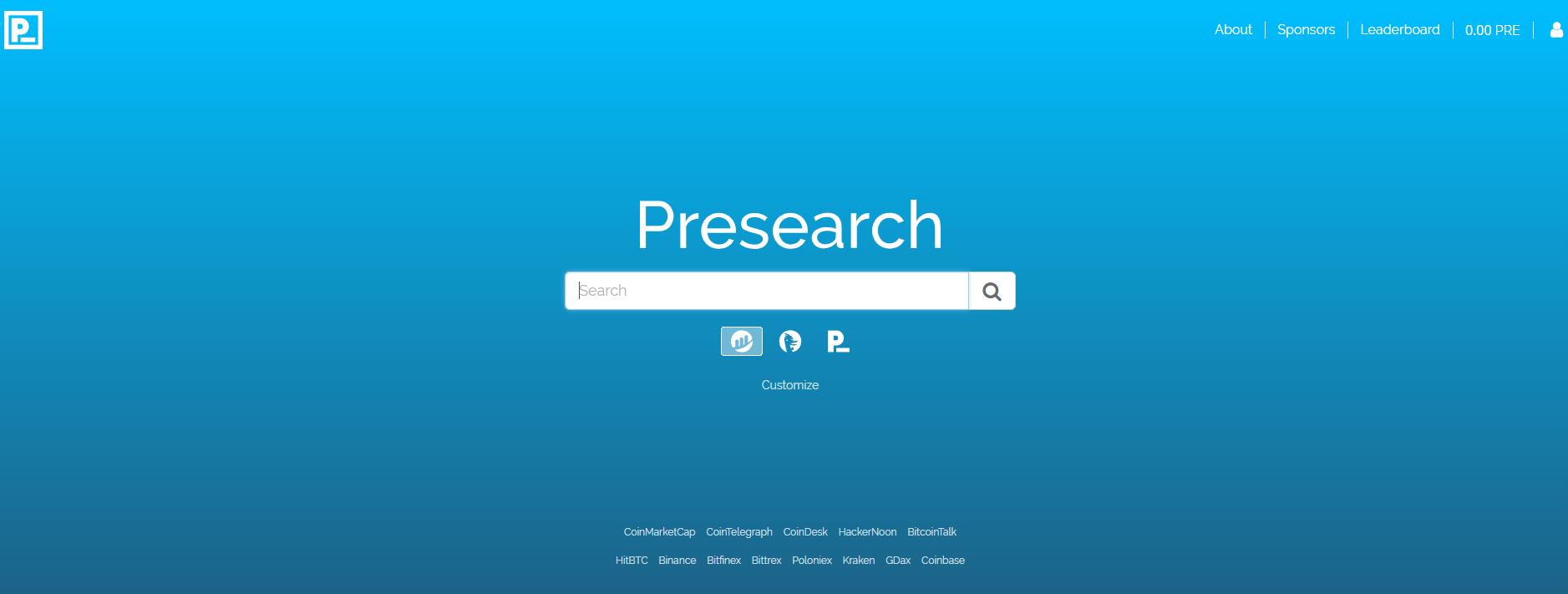 Presearch – blokklánc alapú kereső