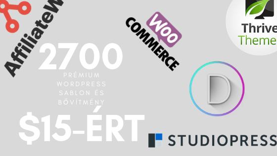 Prémium WordPress sablonok és bővítmények szinte ingyen