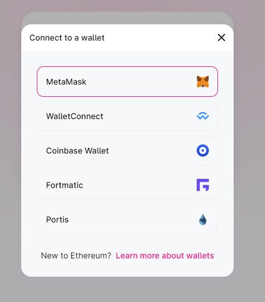 uniswap connect to a wallet